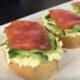 Бутерброды с красной рыбой на багете вкусная закуска