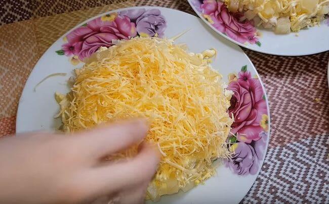 четвертый слой тертый сыр