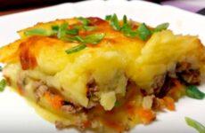 Картофельная запеканка с фаршем в духовке: подробный рецепт
