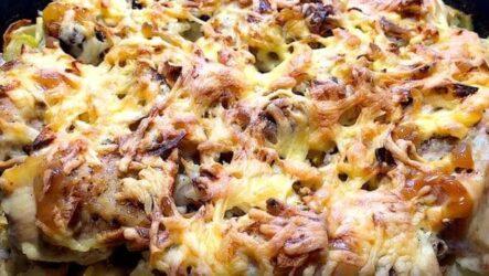 Картошка по-французски в духовке с курицей подробный рецепт