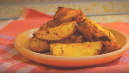 Картошка в духовке запеченная дольками быстро просто и вкусно