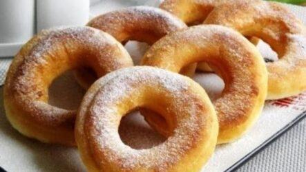 Пончики на кефире пышные мягкие рецепт на сковороде за 12 минут