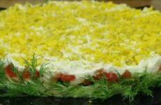 Салат Царский с красной рыбой рецепт слоями