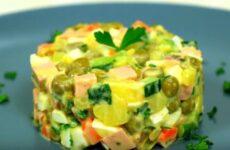 Салат Оливье со свежим огурцом и колбасой: подробный рецепт с фото