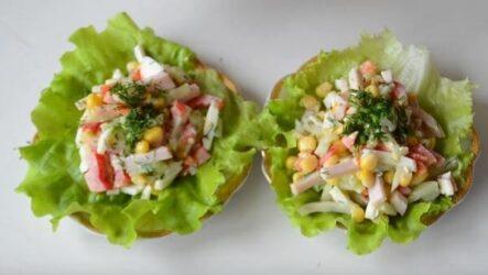 Салат с болгарским перцем и ветчиной вкусный и яркий