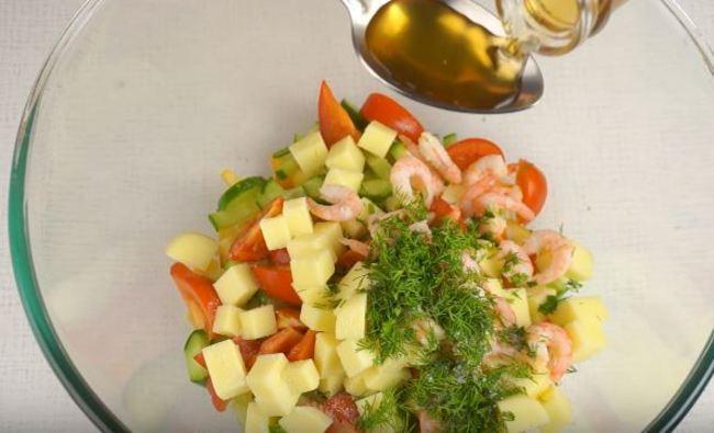 салат заправляем яблочным уксусом