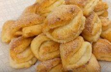 Творожное печенье треугольники с сахаром нежное и воздушное