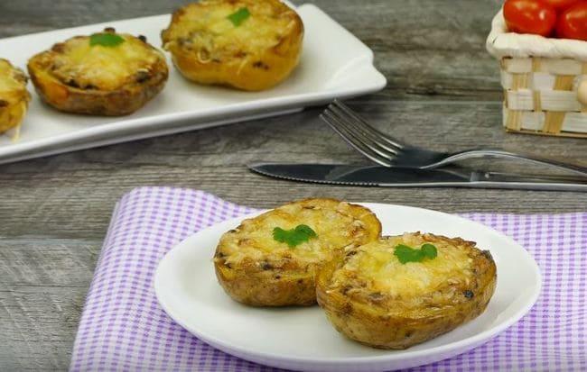как приготовить фаршированную картошку с грибами