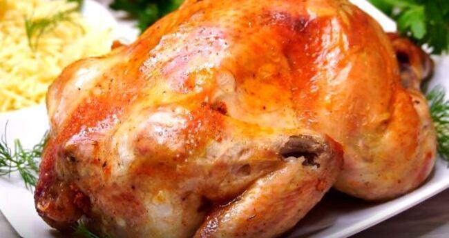 как запечь курицу в духовке целиком с корочкой