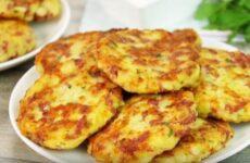 Картофельные шницели с колбасой и сыром
