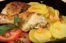 Куриные ножки с картошкой в духовке самый вкусный рецепт