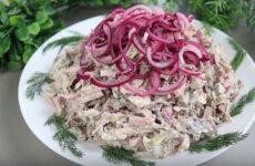 Мясной салат Мужики очень вкусный сытный и оригинальный