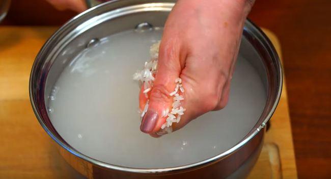 рис промываем под краном