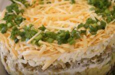 Салат Грибы под шубой простой, но очень вкусный салат