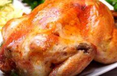Запечённая курица в духовке целиком с хрустящей корочкой