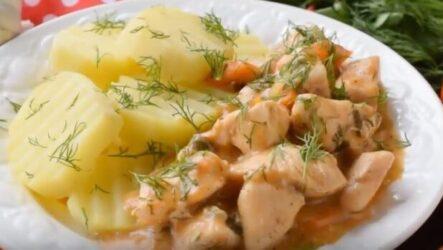 Гуляш из куриной грудки с подливкой рецепт простой и вкусный