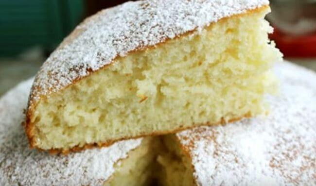 как испечь бисквит на кефире в духовке