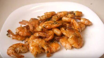 Как приготовить креветки замороженные на сковороде в домашних условиях