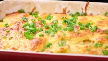 Картошка в молоке в духовке очень вкусный и быстрый рецепт