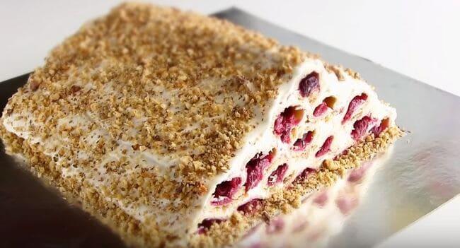 рецепт торта монастырская изба с вишней в домашних условиях