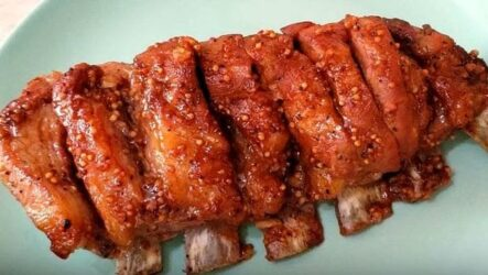 Свиные рёбрышки в духовке простой и очень вкусный рецепт