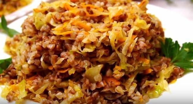 как приготовить кашу гречневую с капустой