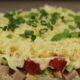 Салат «Минутка» с копченой грудкой рецепт слоями