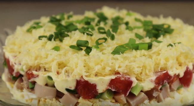 как приготовить салат минутка