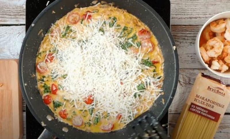 добавить тертый сыр пармезан