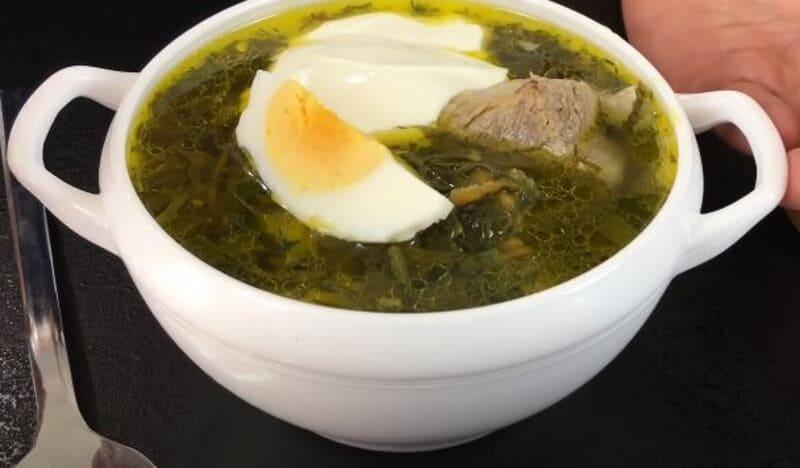 как приготовить щавелевый суп с яйцом