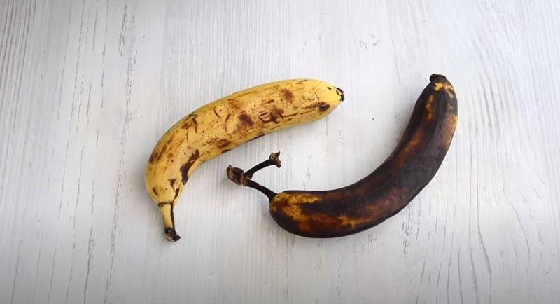 очень спелые или переспелые бананы