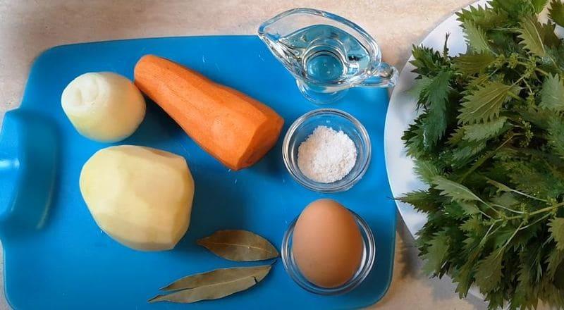 ингредиенты для крапивного супа