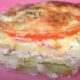 Запеканка из кабачков с фаршем в духовке с помидорами и сыром