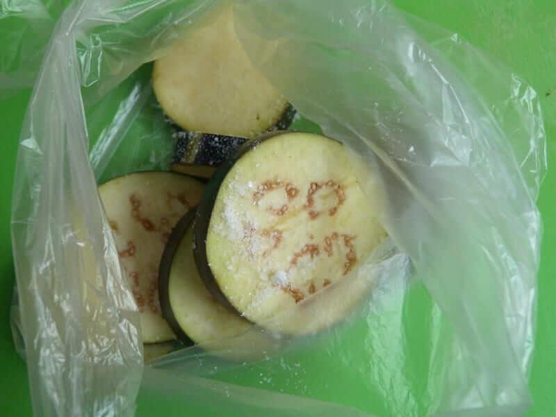 баклажаны солим в пакете