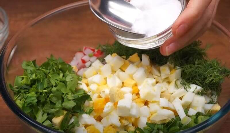 солим салатик по вкусу