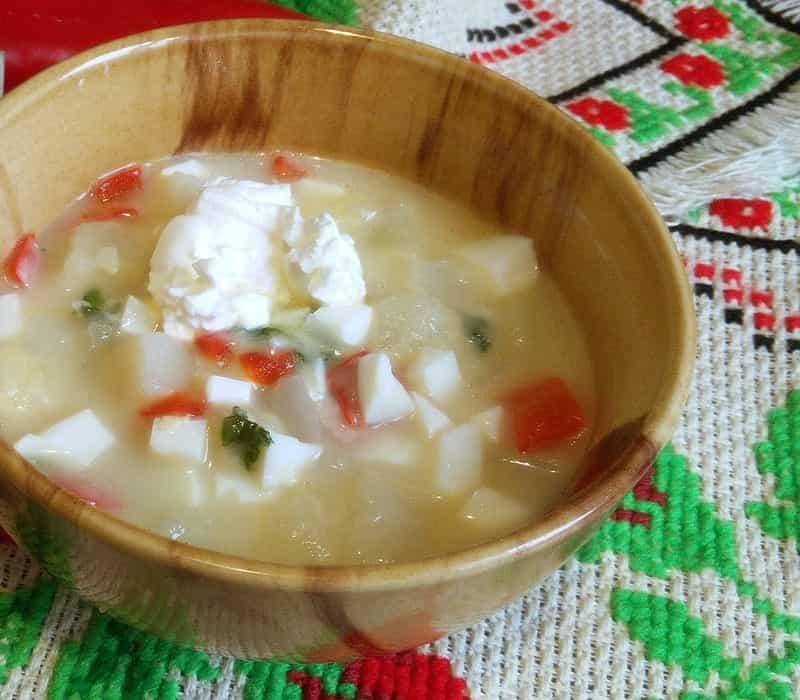 как сварить постный сырный суп
