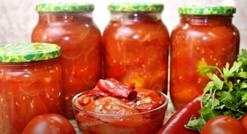 лечо из болгарского перца и помидоров на зиму