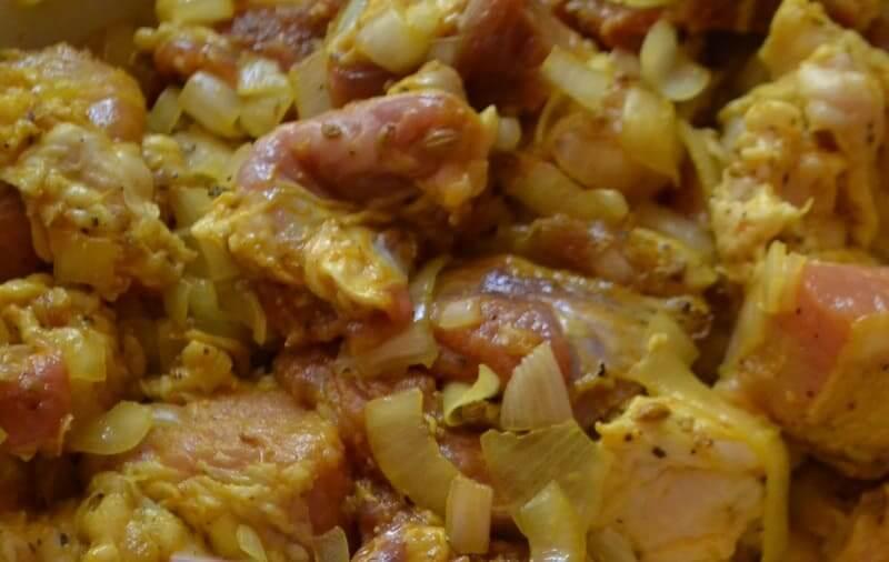 маринуем мясо свинины для шашлыка
