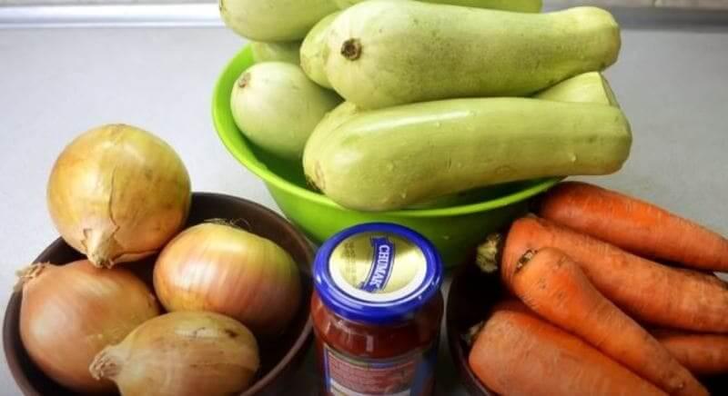 необходимые продукты для кабачковой икры