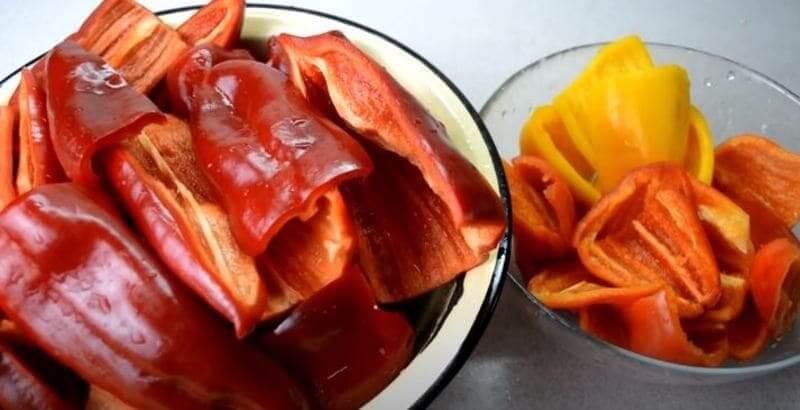 подготовка сладкого перца для лечо