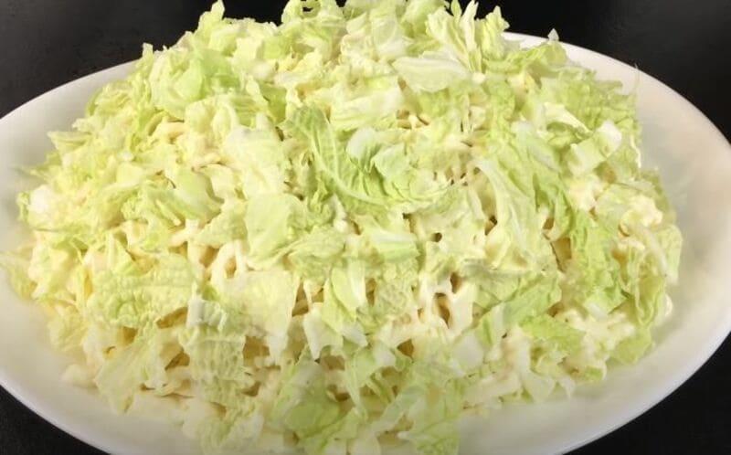 как приготовить салат лебединый пух
