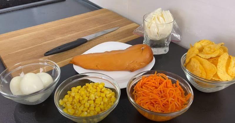 продукты для салата парус