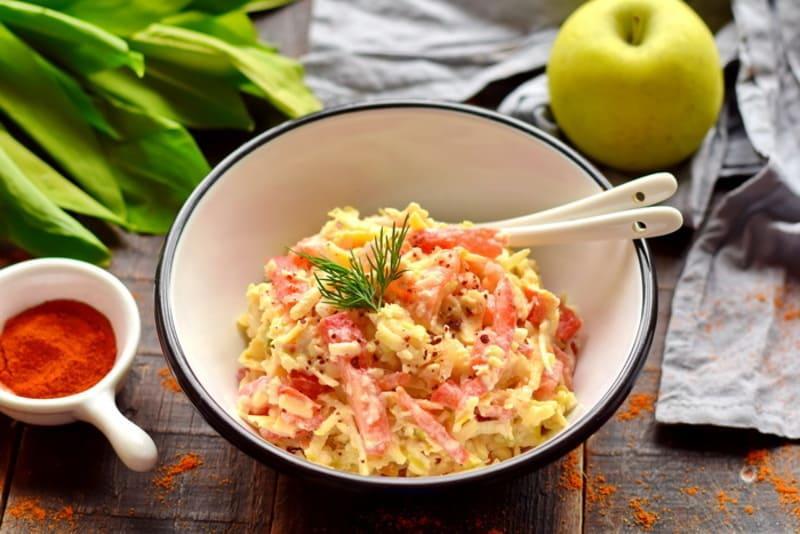 Салат Наргиз всего 4 ингредиента – очень вкусный рецепт