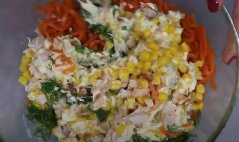 салат перемешиваем