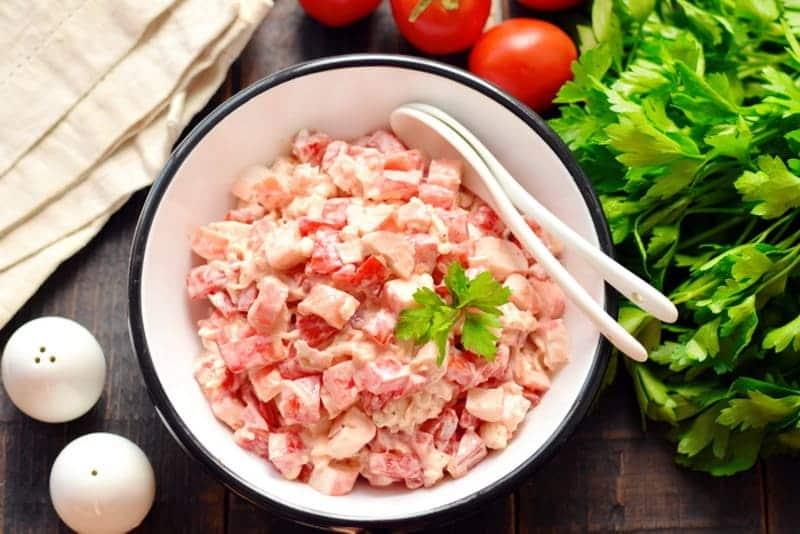 Салат Розовый Коралл вкусный рецепт из 3 продуктов