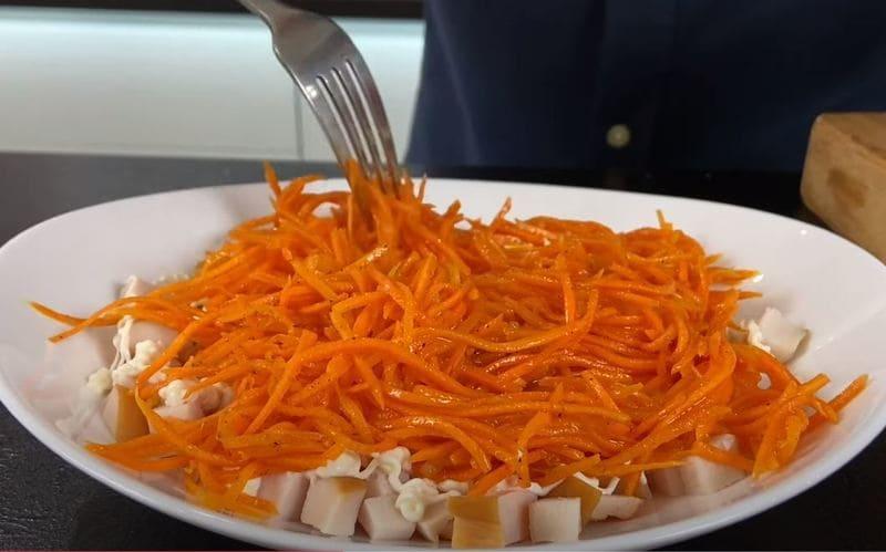 второй слой морковка по корейский