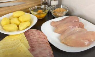 продукты для рецепта кордон-блю