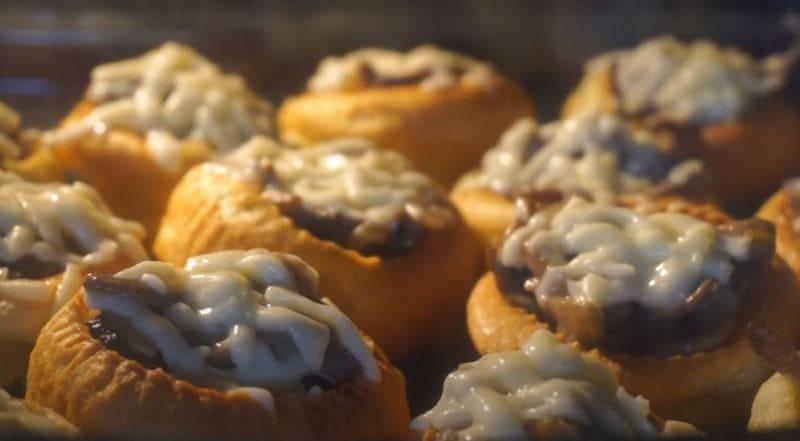 пудинг с грибами и сыром запекаем в духовке