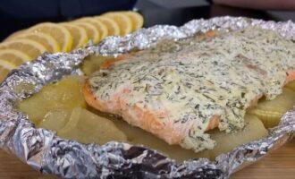 красная рыба запечённая в фольге с картошкой