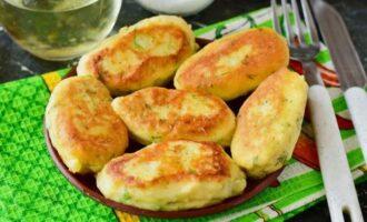картофельные биточки с зеленью